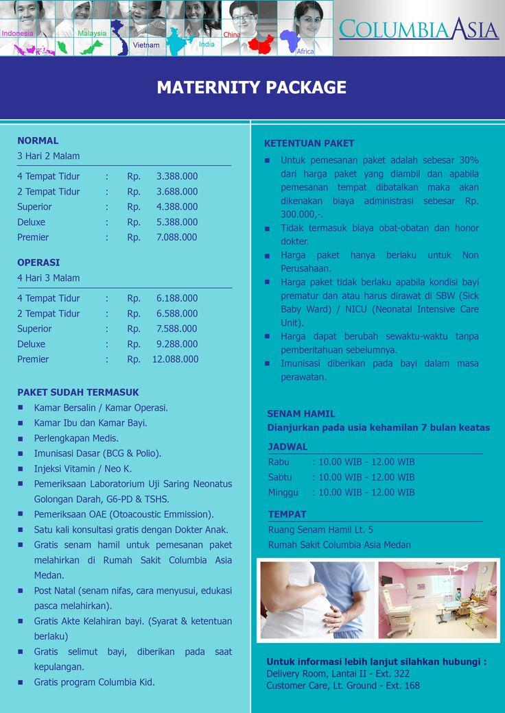 Rumah Sakit Columbia Asia - Medan Jl. Listrik No.2A, Medan  Sumatera Utara - Indonesia Telp. +6261 4566 368 ext. 322 / 168 Email. customercare.medan@columbiaasia.com 24 Hours Emergency Call +6261 4533 636