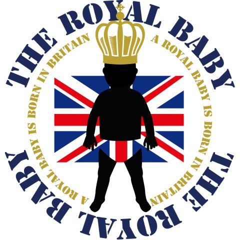 ロイヤルベビー誕生DESIGN    イギリス王室のロイヤルベビー誕生を祝って  ロイヤルベビーをシルエット風に国旗をあしらいデザイン。  未来永劫。イギリスの繁栄を祈って。  小さめの配置でシンプルで飽きのこないデザインにしあげています。