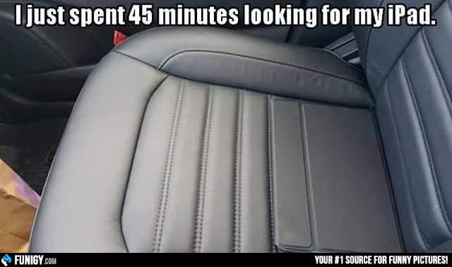 I just spent 45 minutes looking for my iPad (Funny Weird Pictures) - #car #ipad…