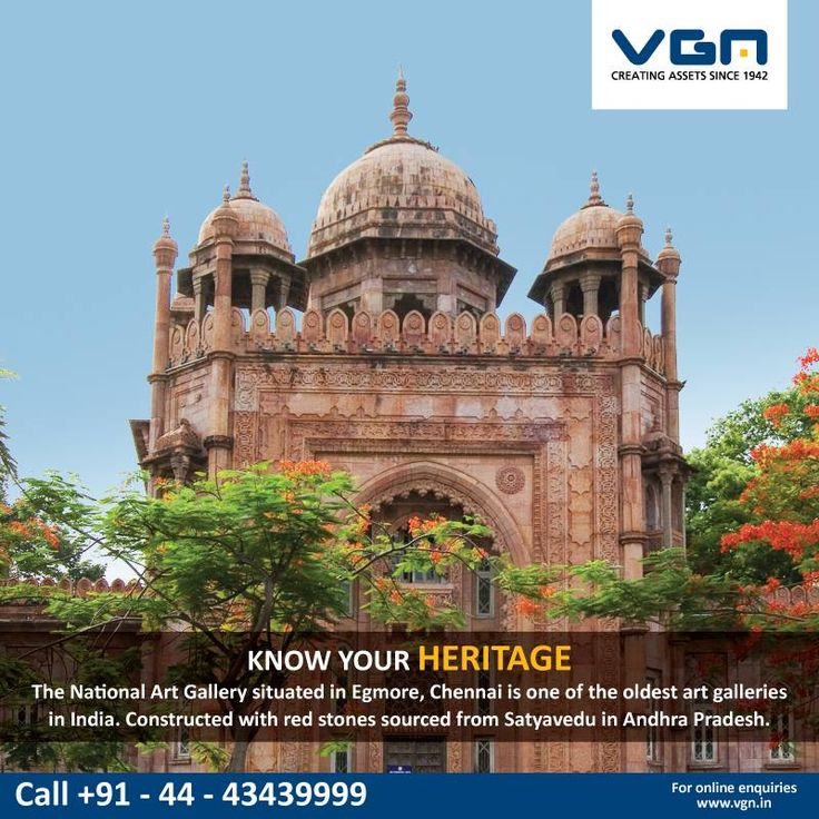 The National Art Gallery is situated in Egmore .It was built in 1906 in Indo-Sarsenic architecture and houses paintings from Thanjavur, Rajasthan, Kanga and Deccan areas, as well as sandalwood sculptures. The gallery contains several Mugul paintings and rare works of Raja Ravi Varma . #VGN #knowyourheritage #egmore.
