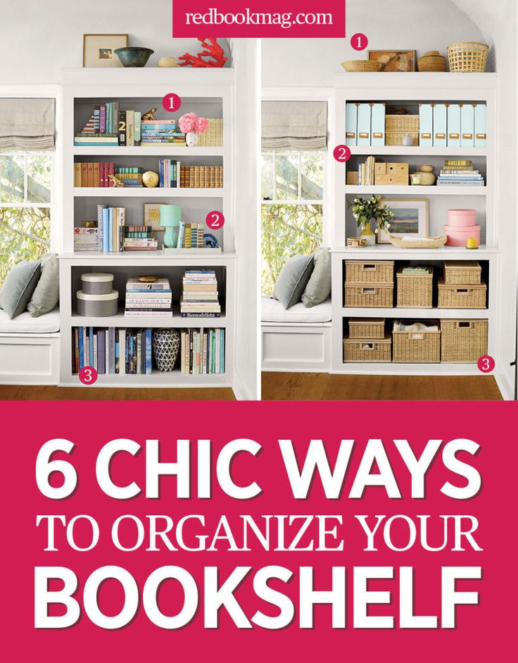 6 Organization Ideas for Your Bookshelf - Organize Your Home - Give your office…