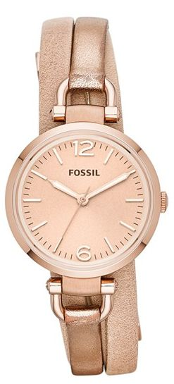 Metallic wrap watch #fossil. I love this watch. If anybody needs a Christmas present idea for me, here you go.