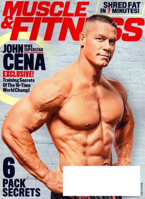 MUSCLE & FITNESS Magazine March 2017 JOHN CENA Training Secrets, Jen Widerstrom