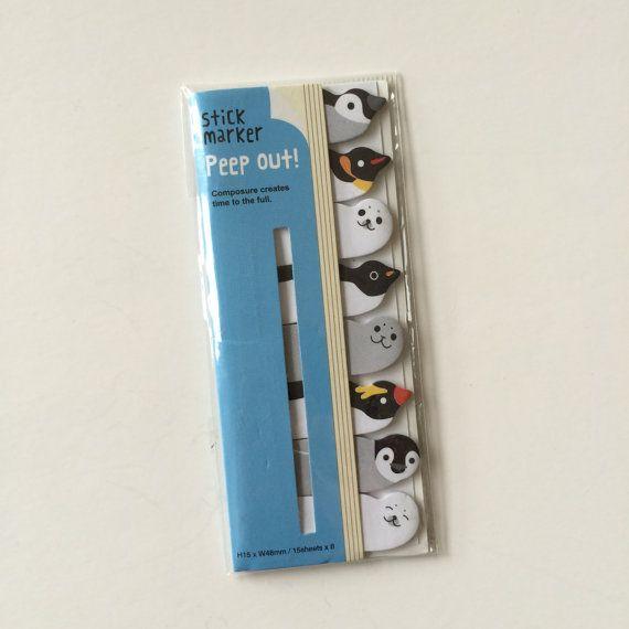 Notas adhesivas  8 diseño x 15 120sheets total  pingüino