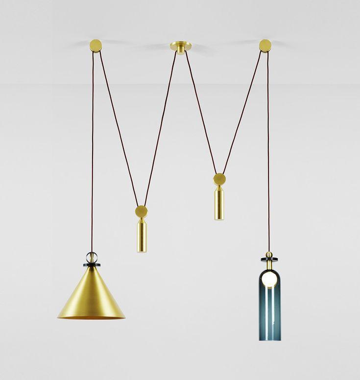 pendants lighting. shape up double pendant by ladies u0026 gentlemen studio for roll pendants lighting