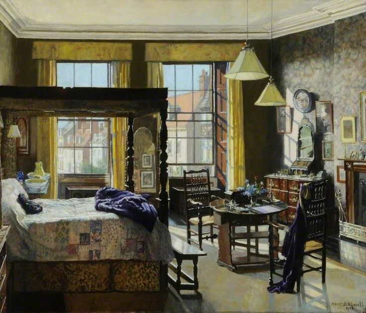 Mary Dawson Elwell (British, 1874–1952)   Bedroom, Bar House, Beverley, East Riding of Yorkshire