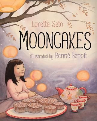 Mooncakes by Loretta Seto. Mooncakes is the lyrical story of a young girl who shares the special celebration of the Chinese Moon Festival with her parents. As they eat mooncakes, drink tea and watch the night sky together, Mama and Baba tell ancient tales of a magical tree that can never be cut down, the Jade Rabbit who came to live on the moon and one brave woman's journey to eternal life.