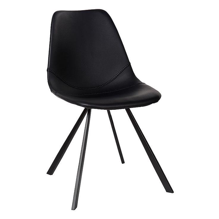 Chair Beau - eetkamerstoel in black leather - zwart leer - Charrell Home Interiors