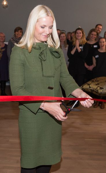 Crown Princess Mette Marit attended the opening of Gallery Normisjon Recycling Shop in Oslo