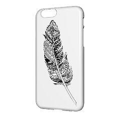 une plume décoré pour portable