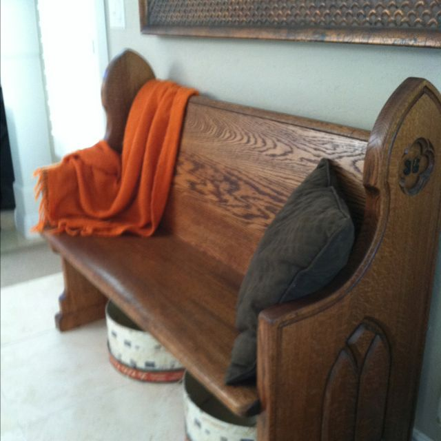 Old Church Pew Entry Way Home Pinterest Colors
