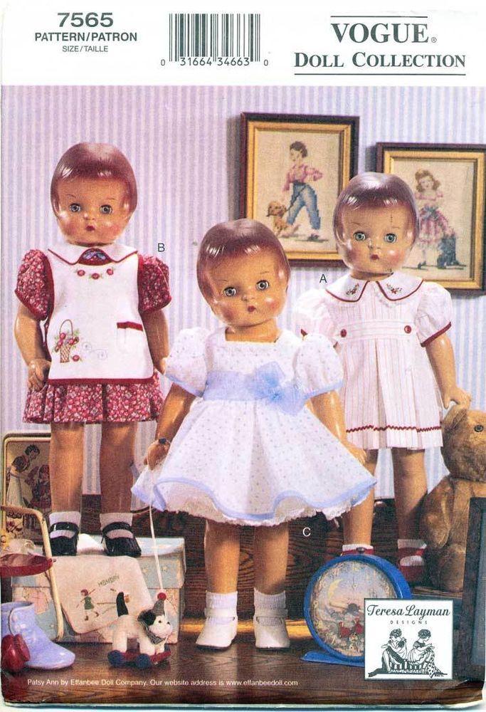 32 besten Vogue Doll Patterns Bilder auf Pinterest   18-Zoll-Puppe ...