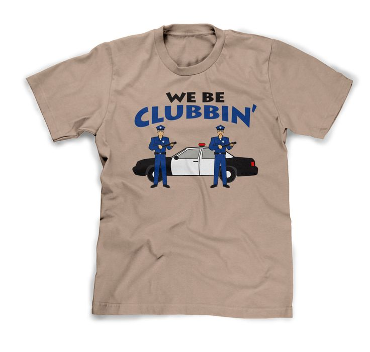Police Shirt We Be Clubbin Clubbing Policeman Funny Cop Tshirt Mens XL Guys Large Womens Medium Ladies Fitted T Shirt Shirt Sleeve Humorous by FunhouseTshirts on Etsy https://www.etsy.com/listing/207398464/police-shirt-we-be-clubbin-clubbing