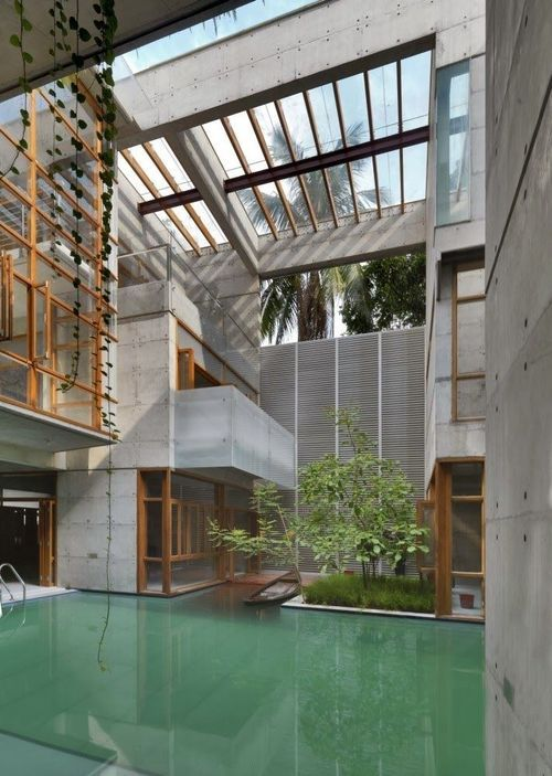 Indoor pool, contemporary architecture