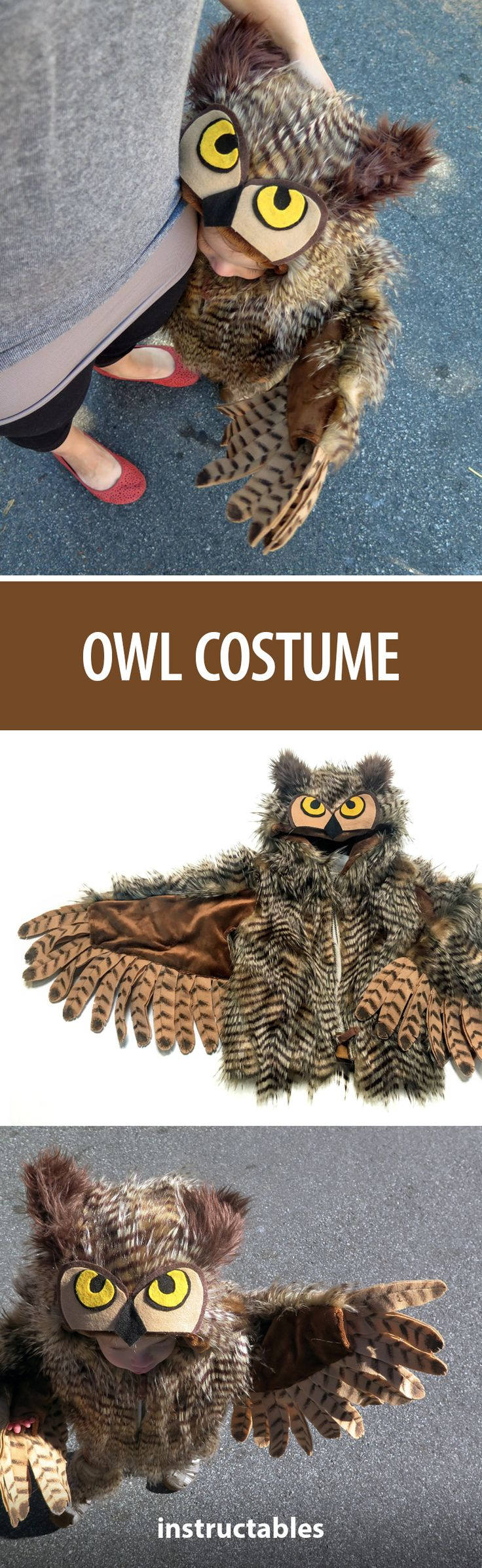 This halloween I set out to make my good friend's daughter an owl costume after her favorite animal. #HalloweenCostume