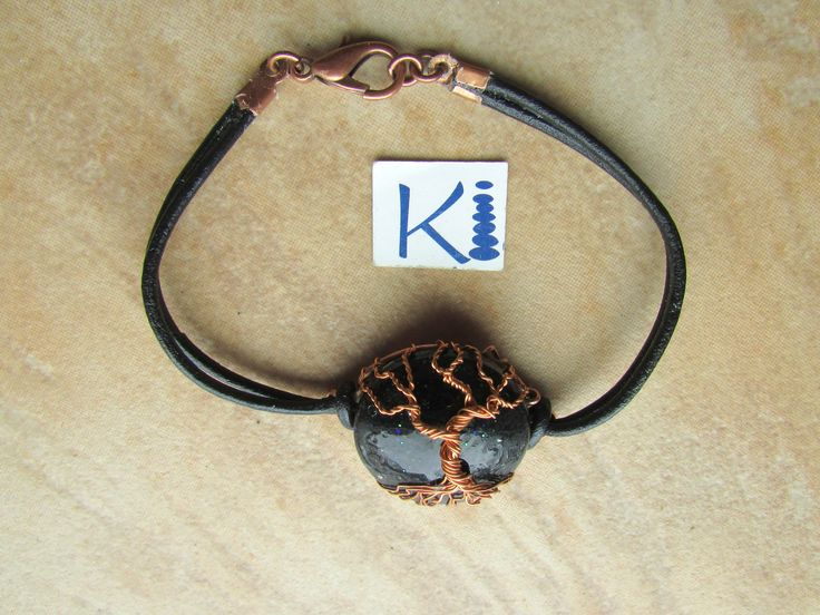 Orgone Bracelet Tree of Life Black Tourmaline Coppe rEcoPoxy® Resin by KiCrystalCreations on Etsy