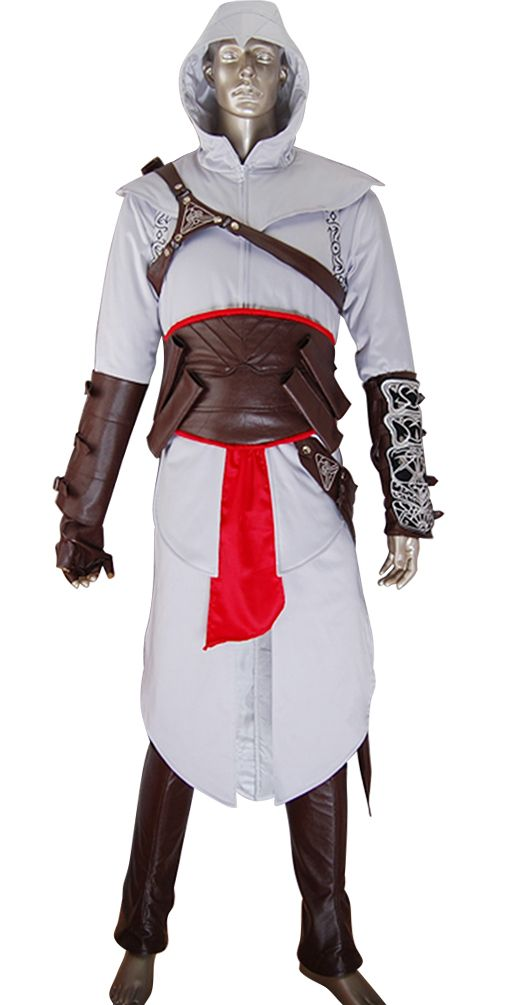 Assassins Creed cosplay Altair costume jacket hoodie halloween costume make-up costume comic-con anime costumes carnival geek costume
