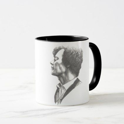 Benedict Cumberbatch Hashtag Sherlock Mug - black gifts unique cool diy customize personalize