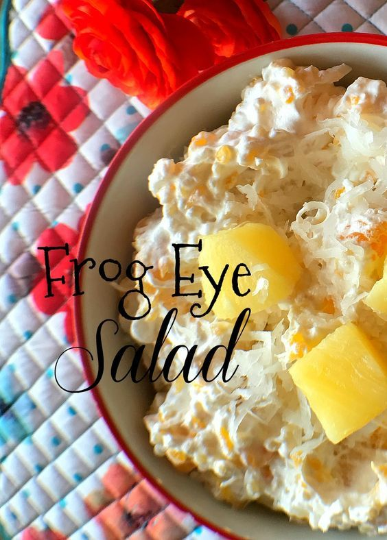 Frog Eye Salad Recipe #frogeye #salad #recipe #sidedish #yum #love #food #tradition