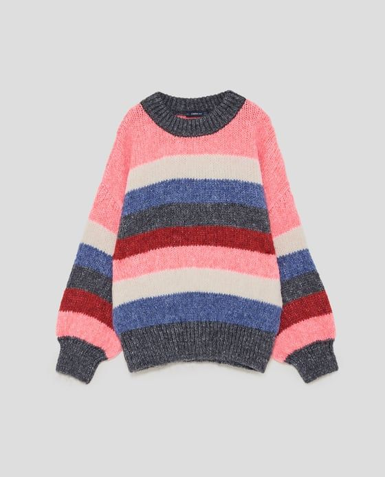 Image 8 of MULTICOLORED STRIPED SWEATER from Zara