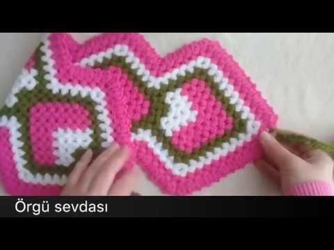 Uzun püsküllü çilek lif anlatımı - YouTube