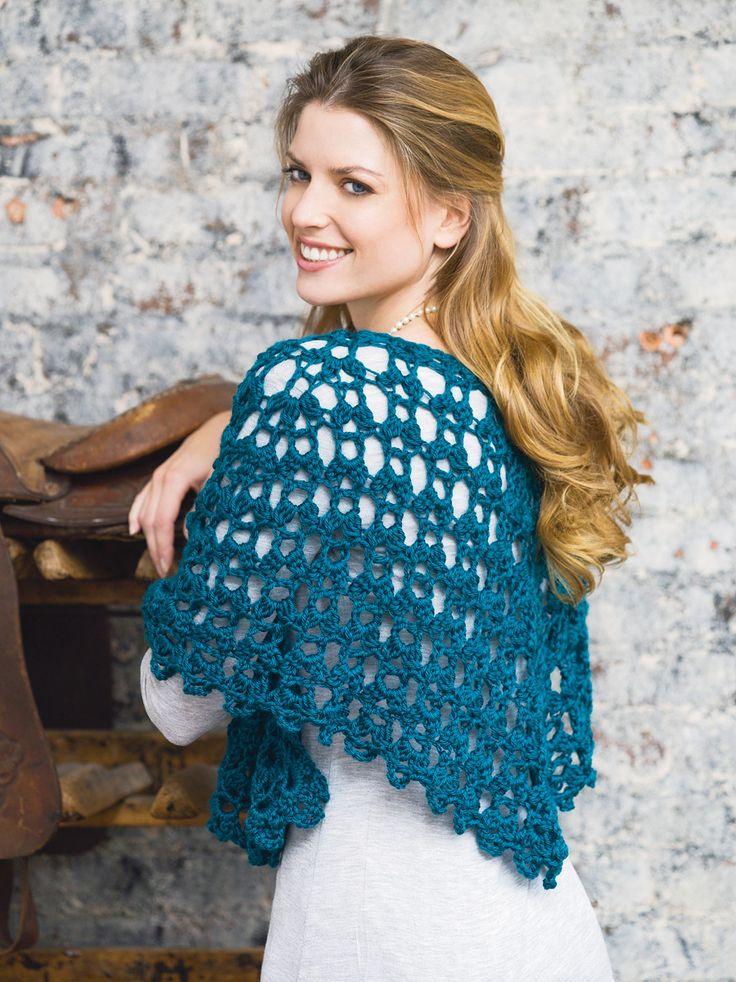Free Crochet Shell Shawl Patterns : Graceful Shell Shawl (Crochet) Crochet Shawls Pinterest