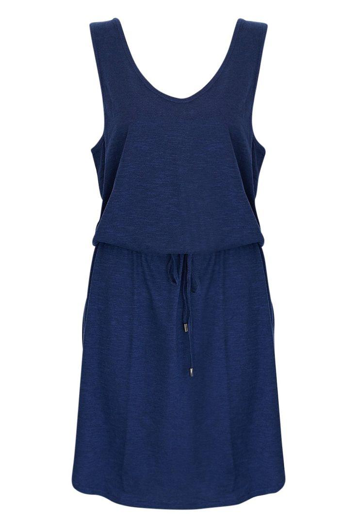 Ellis & Dewey - Navy Waist Tie Jersey Dress (Restocked)