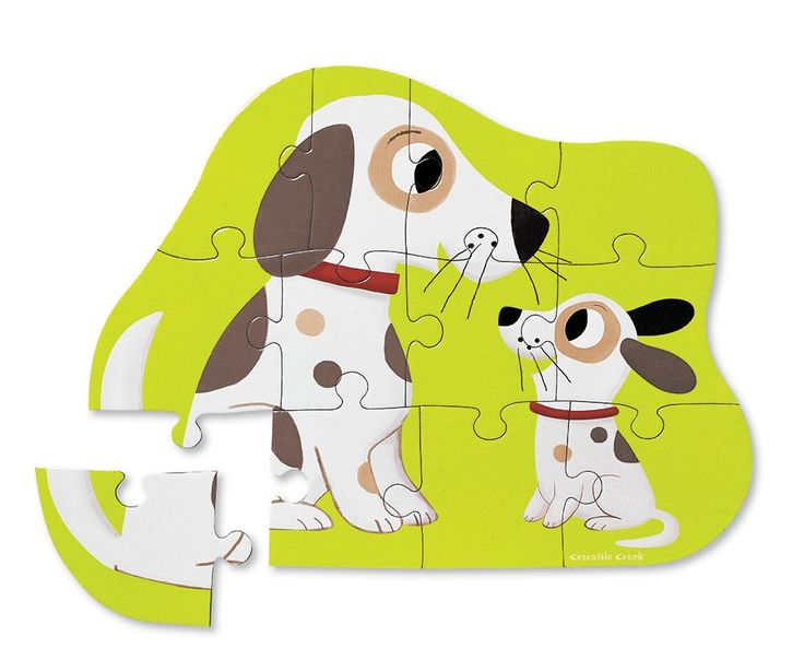 Puppy Love 12 pc puzzle: Mini Puzzles for little kids Sturdy reusable shaped boxes make these puzzles perfect for travel or home.