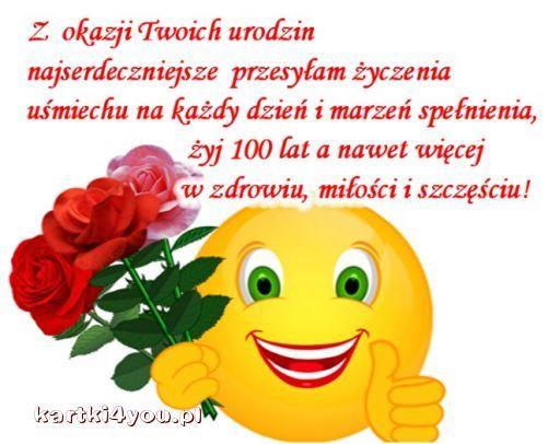 Różyczki i najpiękniejsze życzenia dla Ciebie!