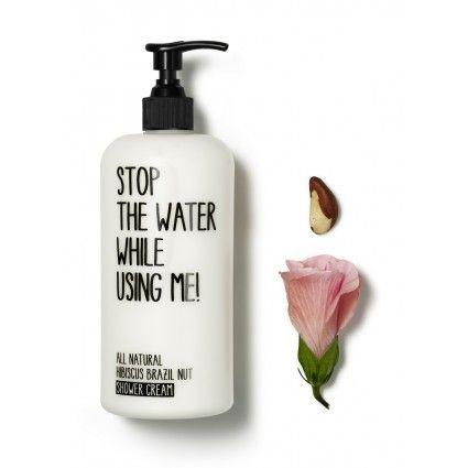 Fantástica crema hidratante corporal para la ducha de hibisco y nuez del Brasil, hidrata y protege la piel de la marca de cosmética natural Stop the water
