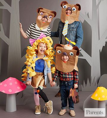 Get the whole family in on the act with this Goldilocks and the Three Bears costume idea.