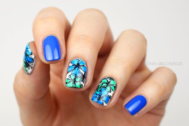 Nails reloaded - p2 gloss goes neon skycoaster und ferris wheel + stamping