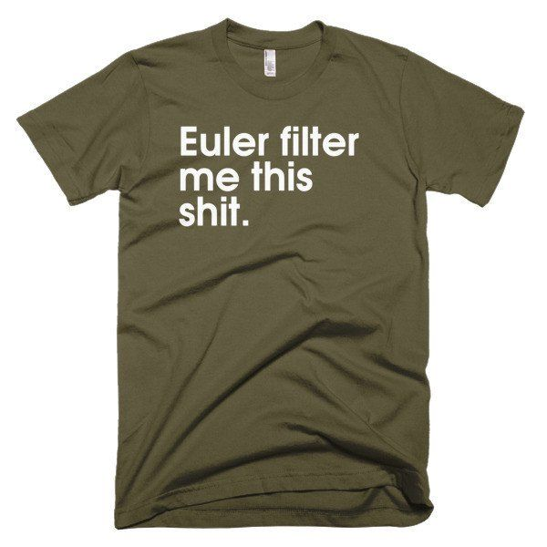 Euler Filter - American Apparel men's t-shirt (Oh, animation!)