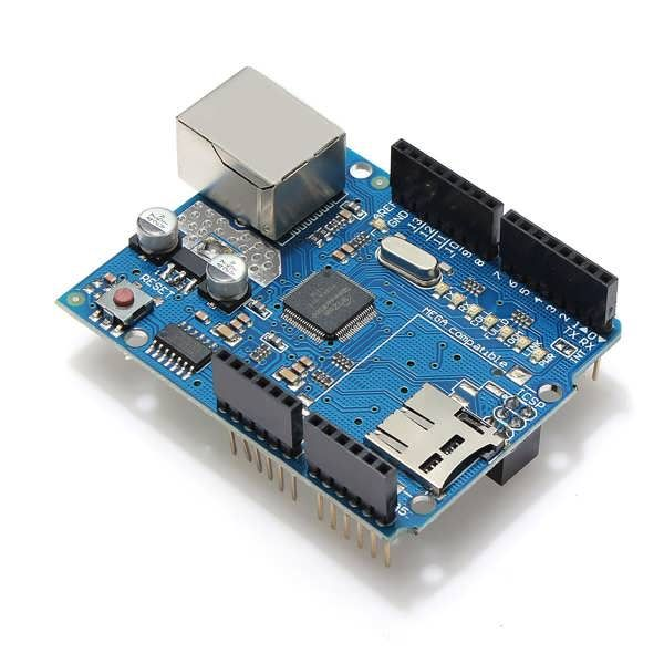 Geekcreit® Ethernet Shield Module W5100 Micro SD Card Slot For Arduino UNO MEGA 2560  Worldwide delivery. Original best quality product for 70% of it's real price. Buying this product is extra profitable, because we have good production source. 1 day products dispatch from warehouse. Fast ...