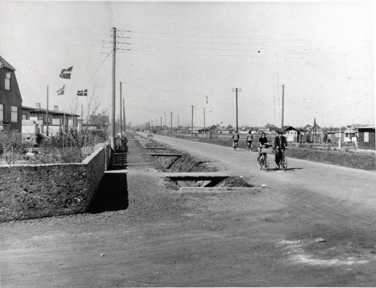 Kongelundsvej mod Nord 1943