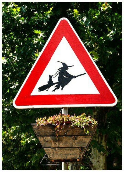 Genuine road sign from Triora, Italy. :)