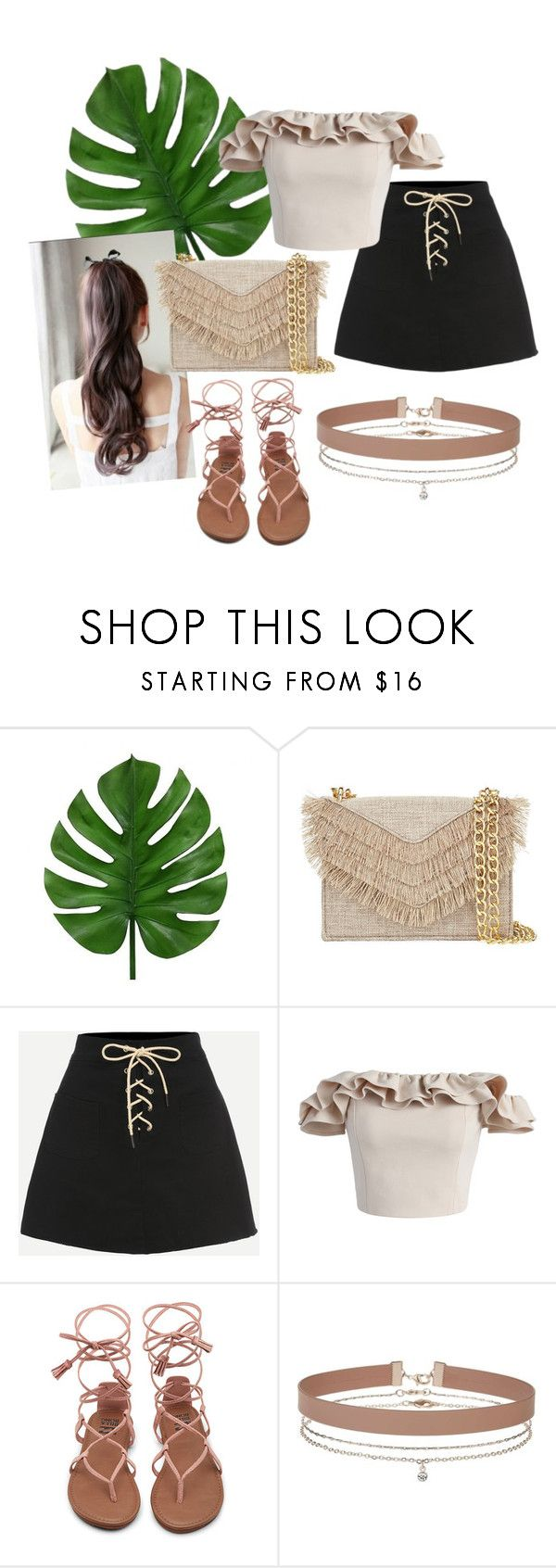 sweet peachy look by patsilvarte-blog on Polyvore featuring Chicwish, Cynthia Rowley and Miss Selfridge