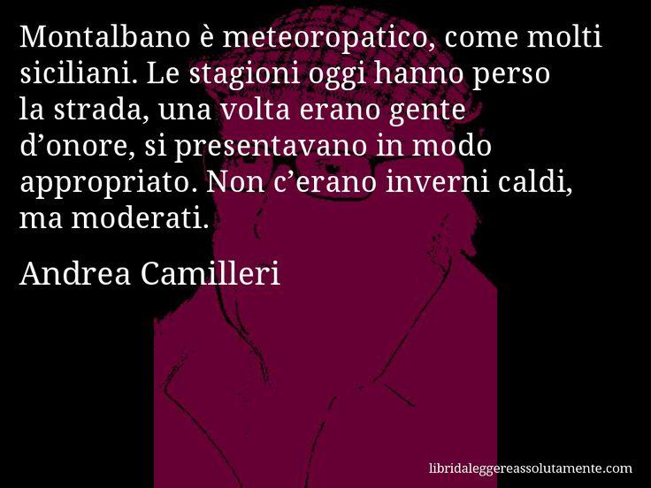 Cartolina con aforisma di Andrea Camilleri.