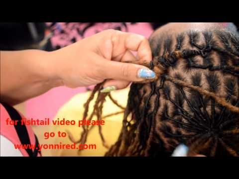 the pinwheel dreadlock style how-to - YouTube