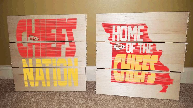 Kansas City Chiefs-Football Rustic Wooden Sign by SMMyDesigns on Etsy