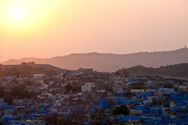 All sizes   The sunset over the blue city, Jodhpur, Rajasthan, India   Flickr - Photo Sharing!