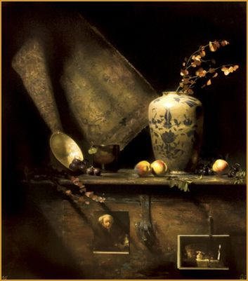 """Homage to Pushman"" David Leffel http://brightlightfineart.com/david-a-leffel/ #leffel #abstract #realism"