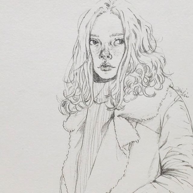 #drawingbijou #drawing #sketch #leatherjacket #coat #fashion #style #look #데일리룩 #패션 #스케치 #일러스트 #소녀 #연필그림 #드로잉 #무스탕 #art #artworks #doodle  #girl #illustration #illust  #art