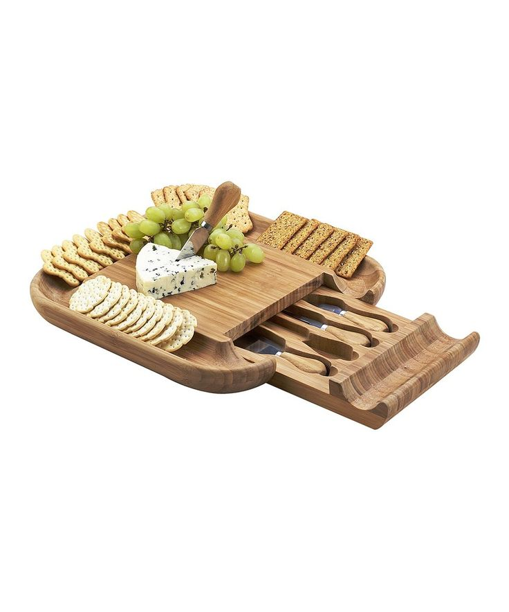 Take a look at this Malvern Bamboo Cheese Board Set today!