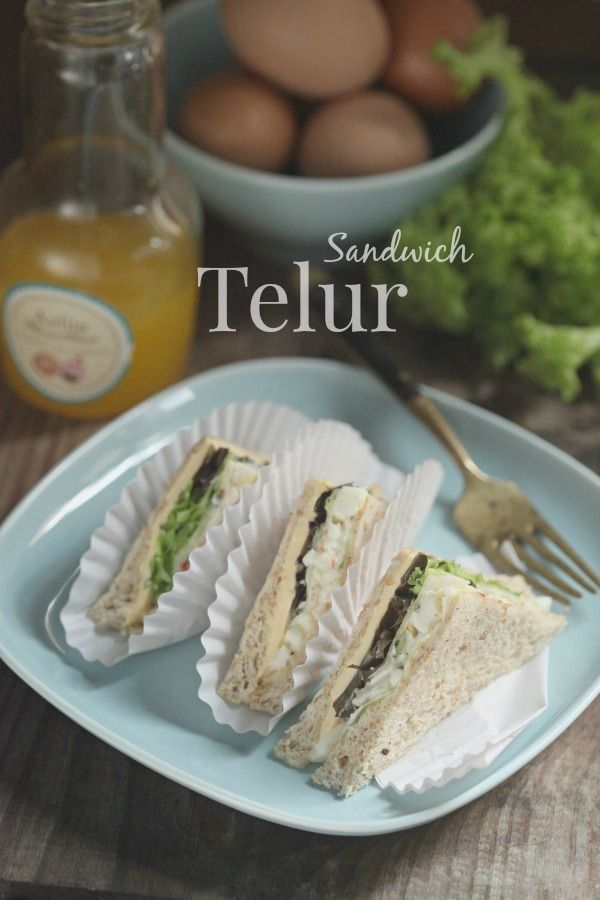 masam manis: Sandwich Telur mudah dan ringkas