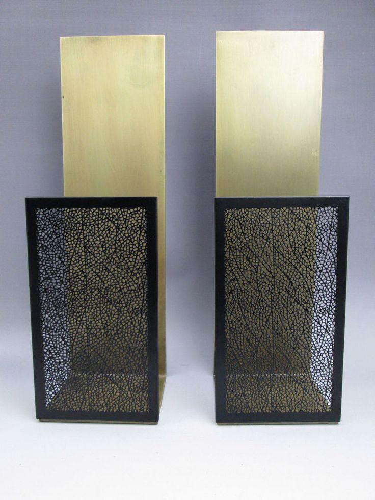 Pair Crate and Barrel Ness candle sconces antiqued brass and bronze #CrateandBarrel Circular ...