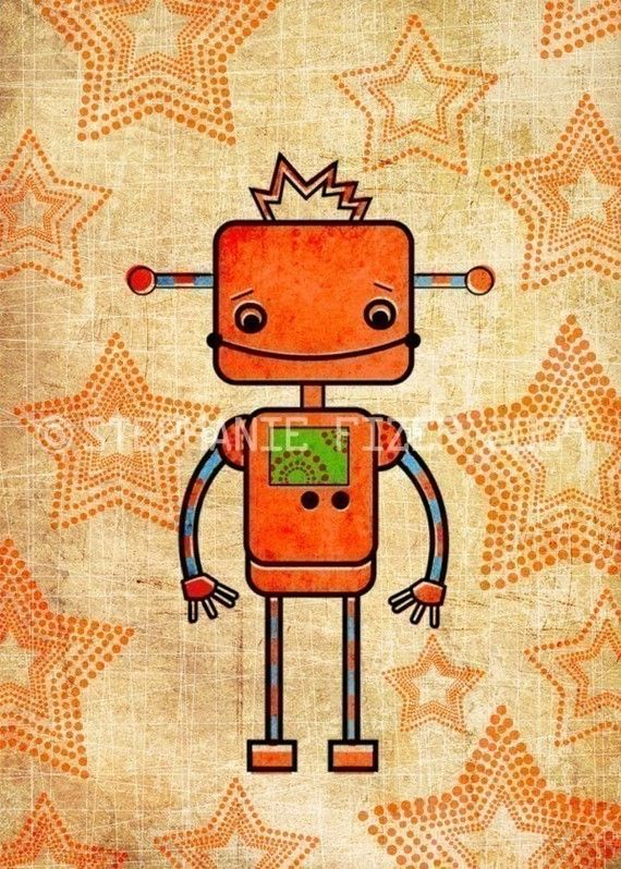These robot arts are so cute!