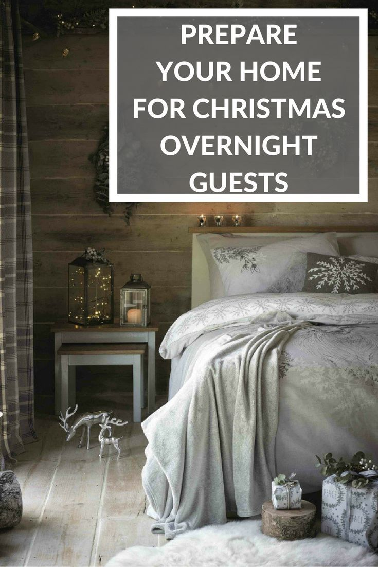 If you've got Christmas guests coming this holiday you'll need to get the house ready and prepared. There are lots of tips and a good checklist here to help you get organised before they arrive, to ensure you have the sleeping arrangements, seating and bathrooms all ready!