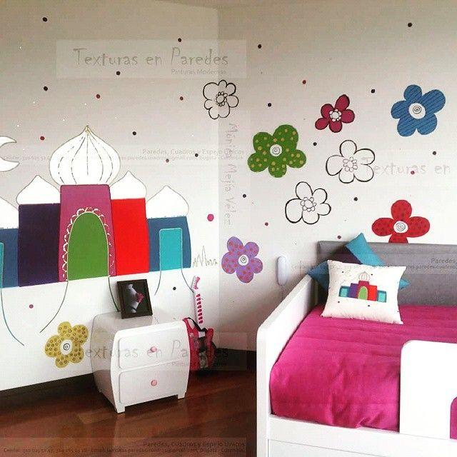 #paredes infantiles con #acrilicos