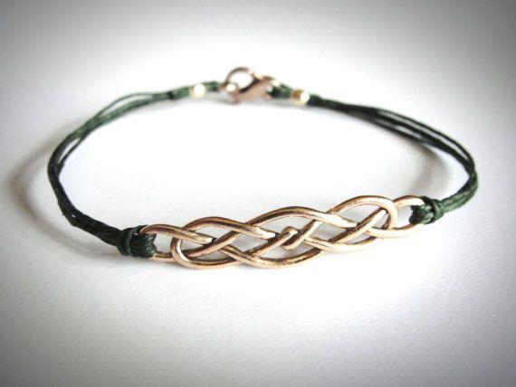 Rose+Gold+Keltische+knoop+armband+brons+Ierse+door+JewelryByMaeBee